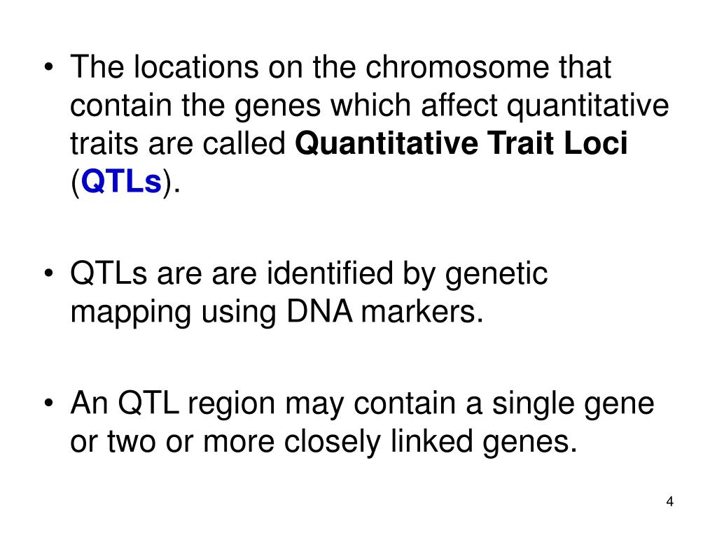 The locations on the chromosome that contain the genes which affect quantitative traits are called