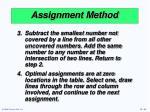 assignment method30