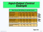 input output control example