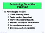 scheduling repetitive facilities64
