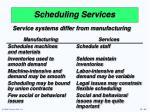 scheduling services