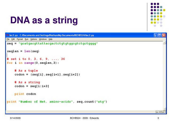 Dna as a string