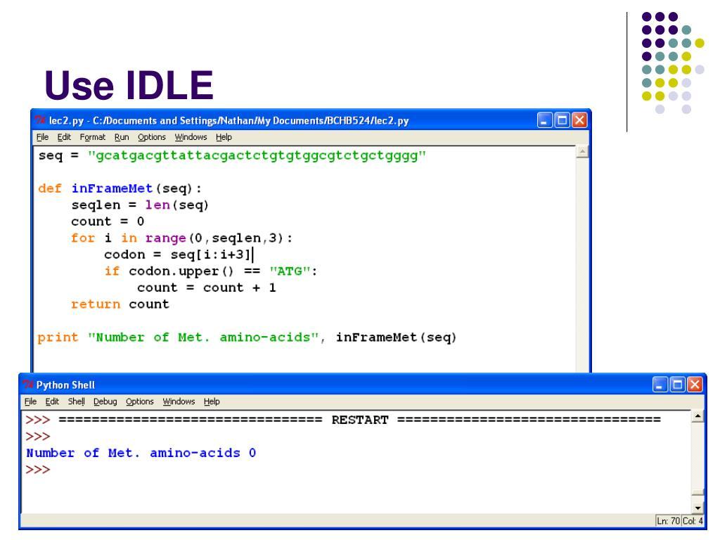 Use IDLE