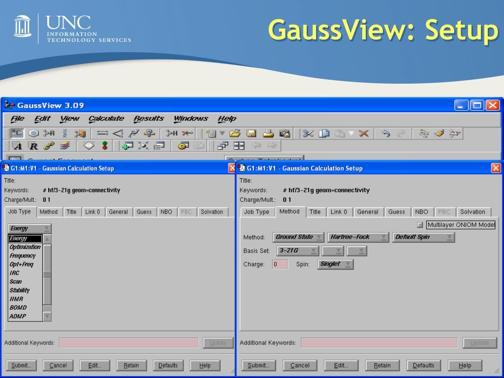PPT - Gaussian & GaussView PowerPoint Presentation - ID:363322