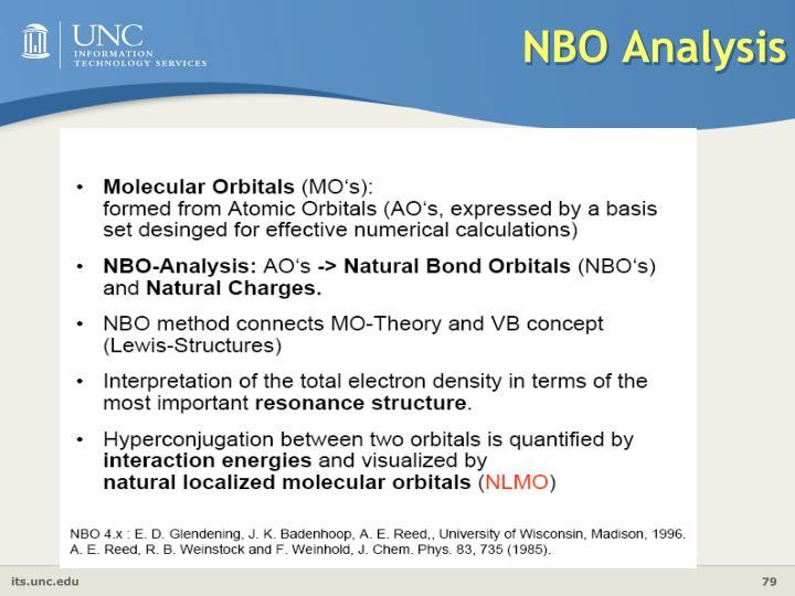 NBO Analysis