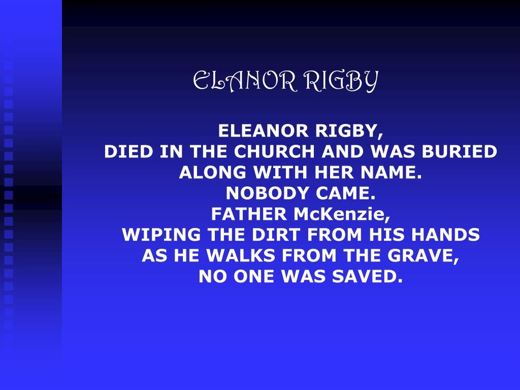 ELANOR RIGBY