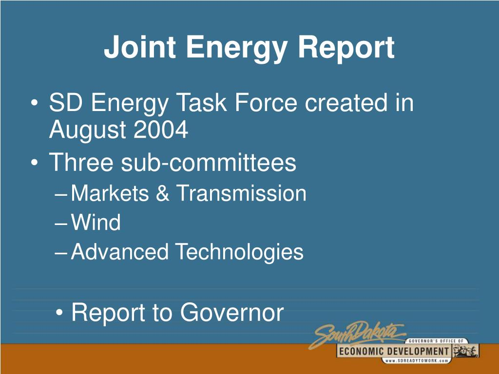Joint Energy Report
