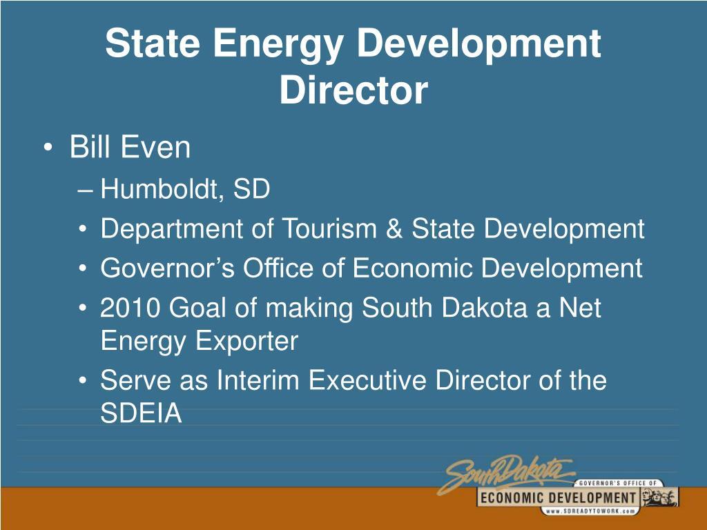 State Energy Development Director
