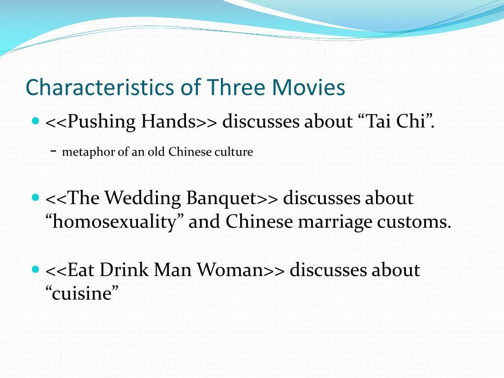 Characteristics of Three Movies