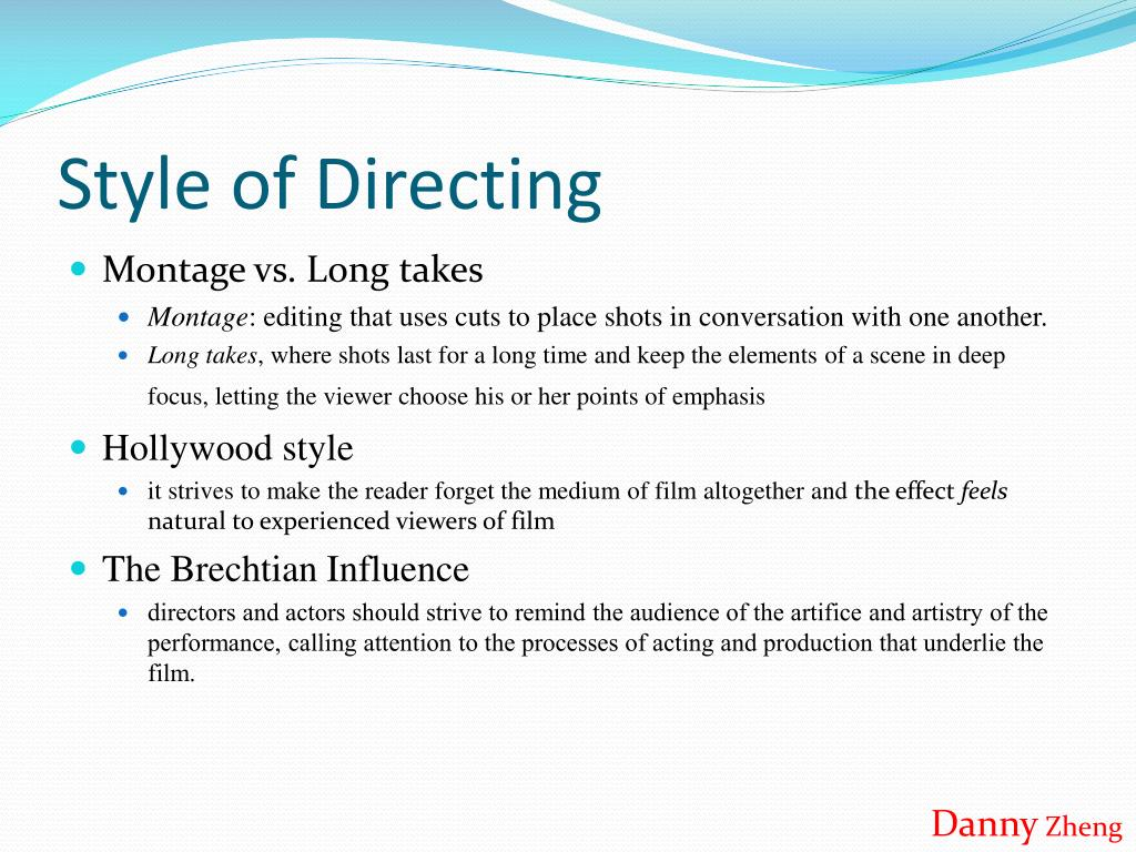 Style of Directing