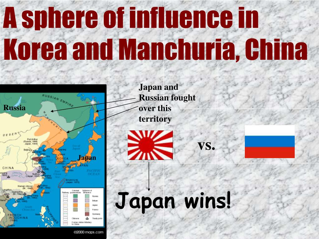 A sphere of influence in Korea and Manchuria, China