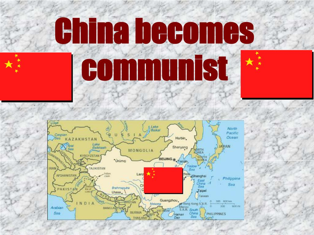China becomes communist