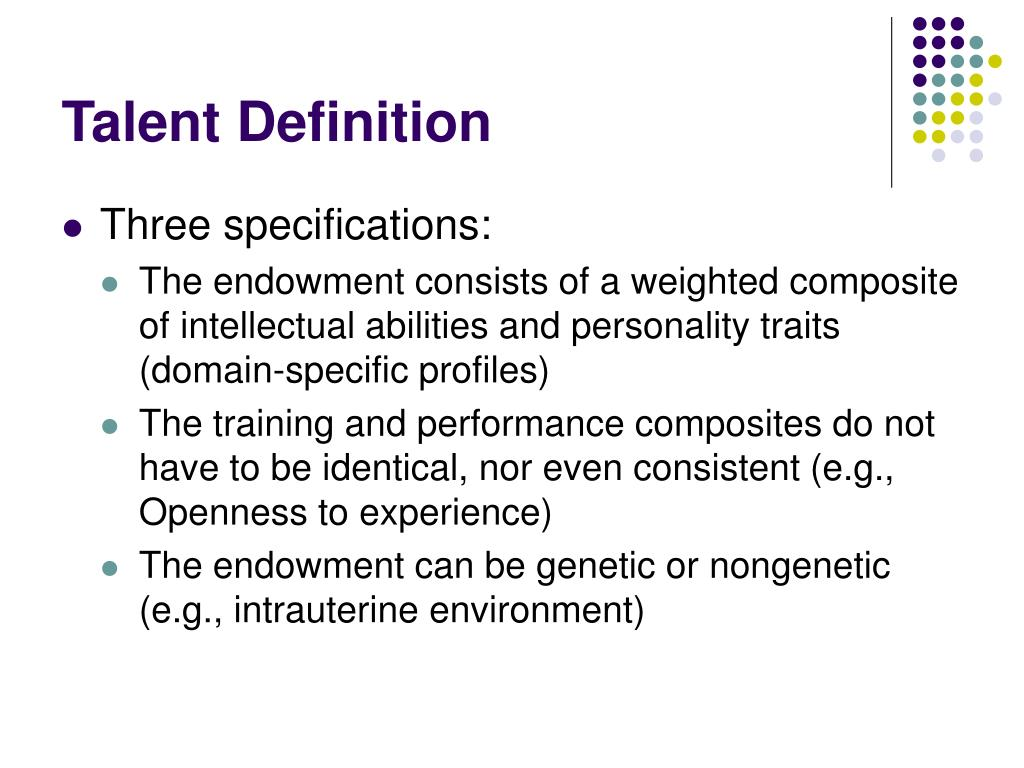 Talent Definition