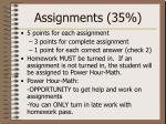 assignments 35
