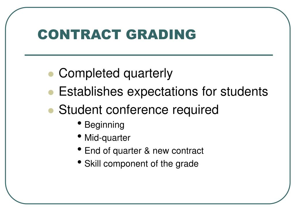 CONTRACT GRADING