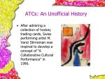 atcs an unofficial history
