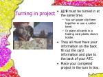 turning in project