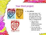 your third project