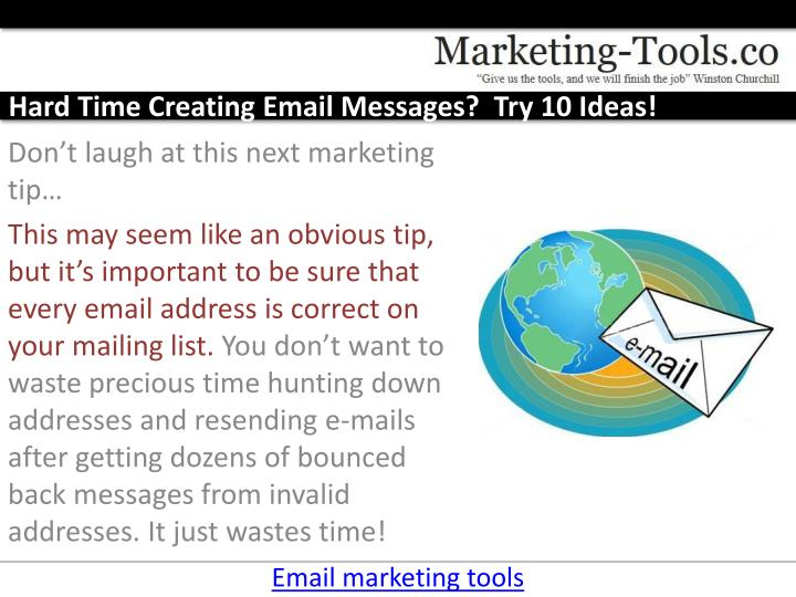 Hard time creating email messages try 10 ideas3
