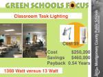 classroom task lighting