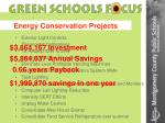energy conservation projects