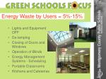 energy waste by users 5 15