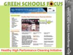 healthy high performance cleaning initiative