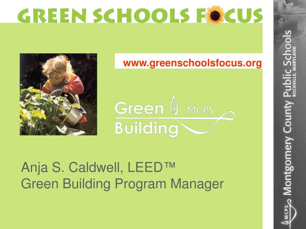 www greenschoolsfocus org l.