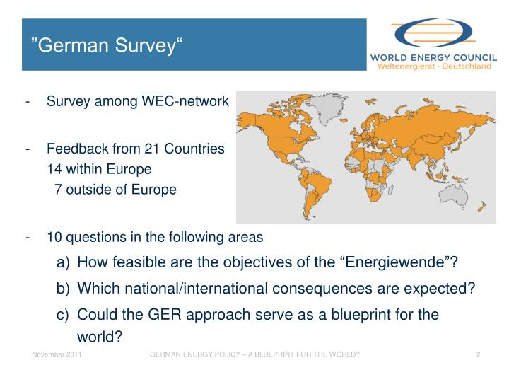 German survey