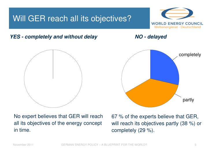 Will ger reach all its objectives
