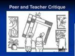 peer and teacher critique