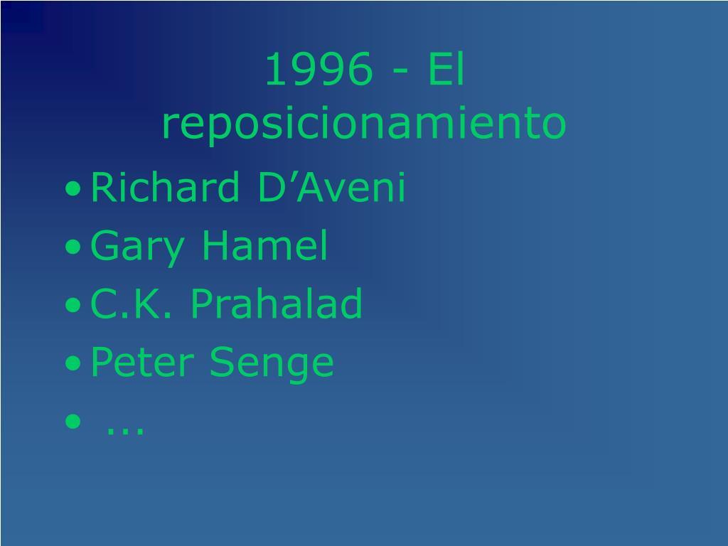 1996 - El reposicionamiento