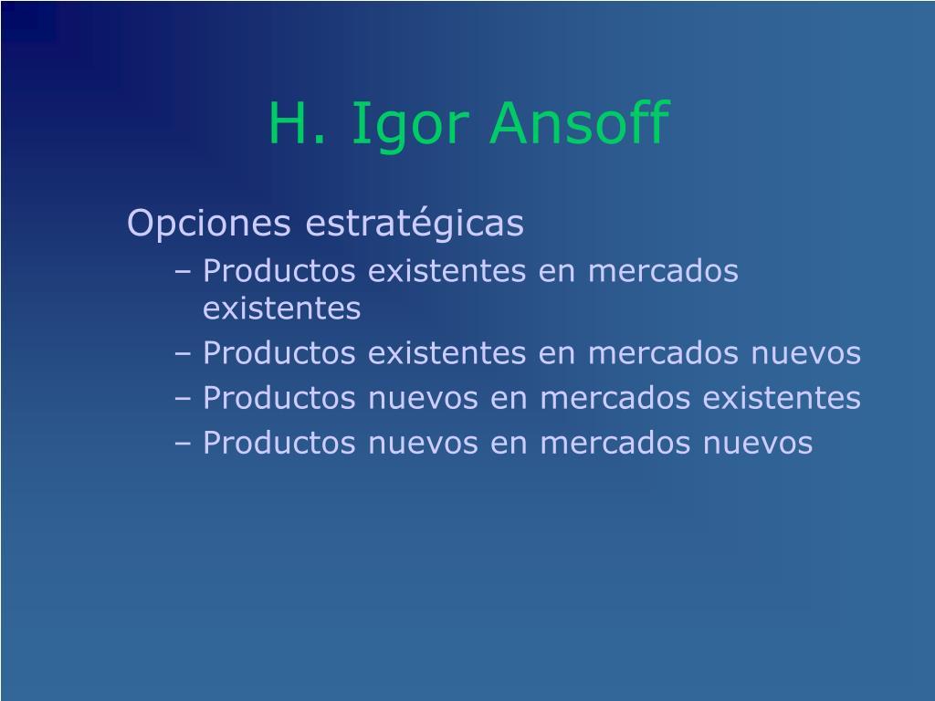 H. Igor Ansoff