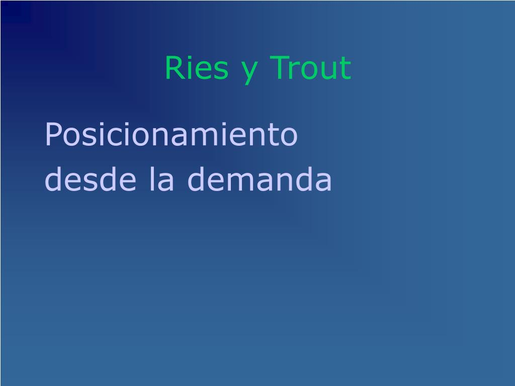 Ries y Trout