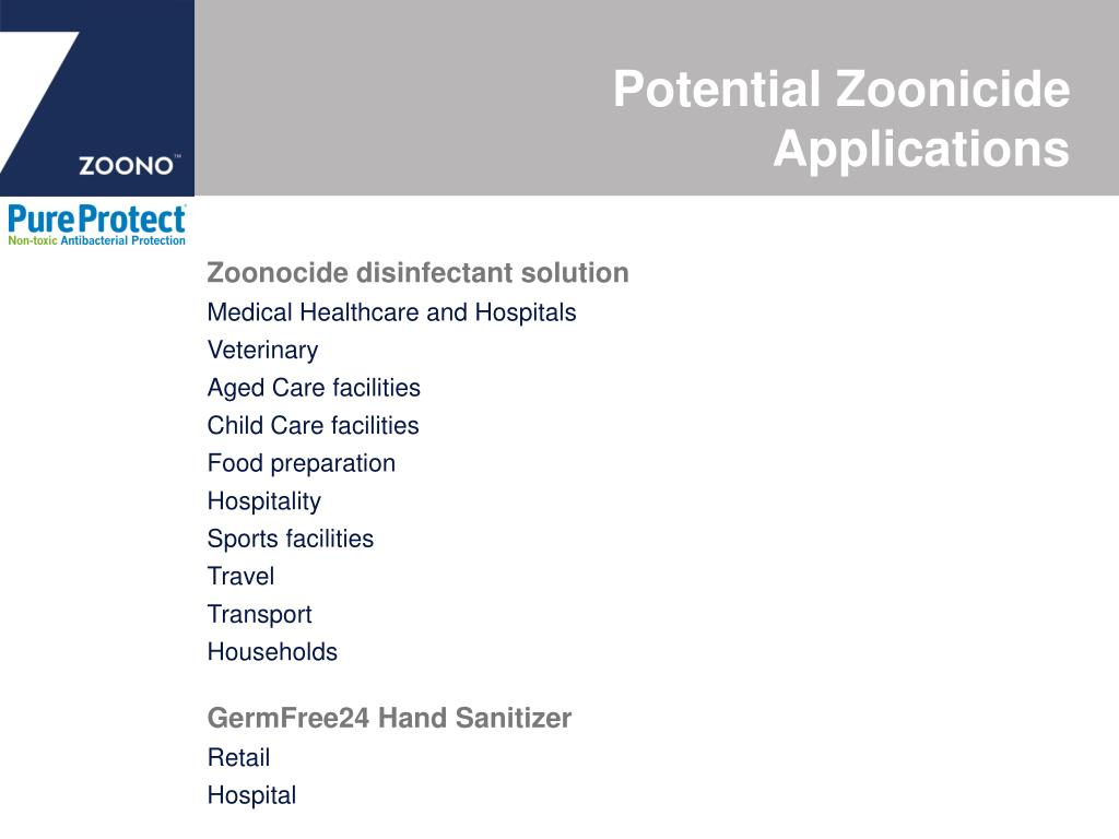 Zoonocide disinfectant solution