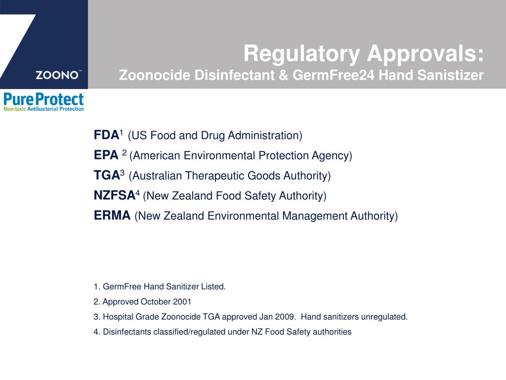 Regulatory Approvals:
