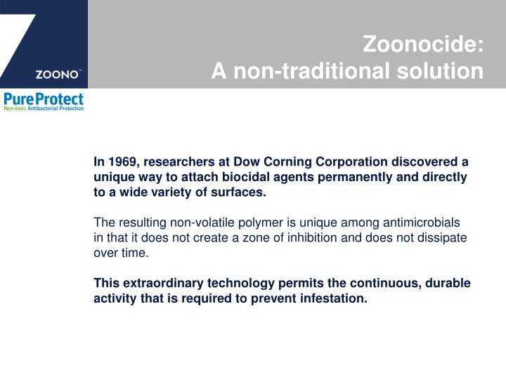 Zoonocide a non traditional solution