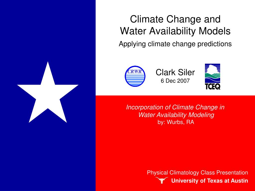 climate change and water availability models l.
