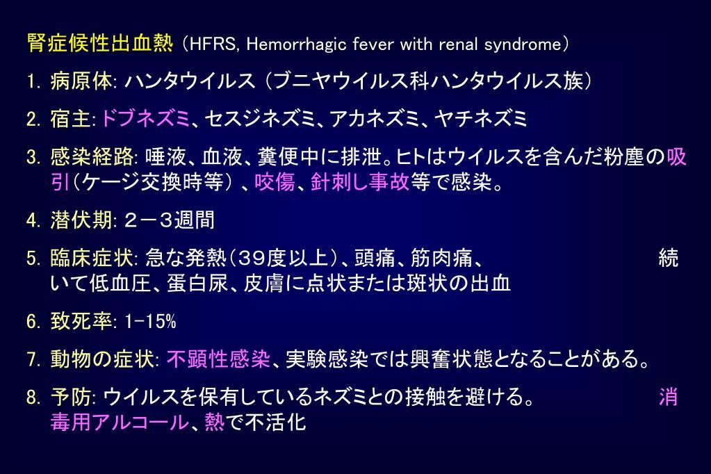 腎症候性出血熱