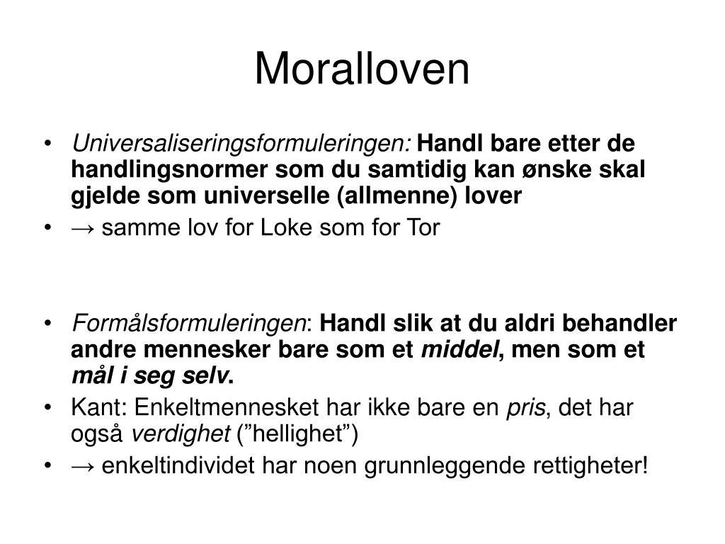 Moralloven