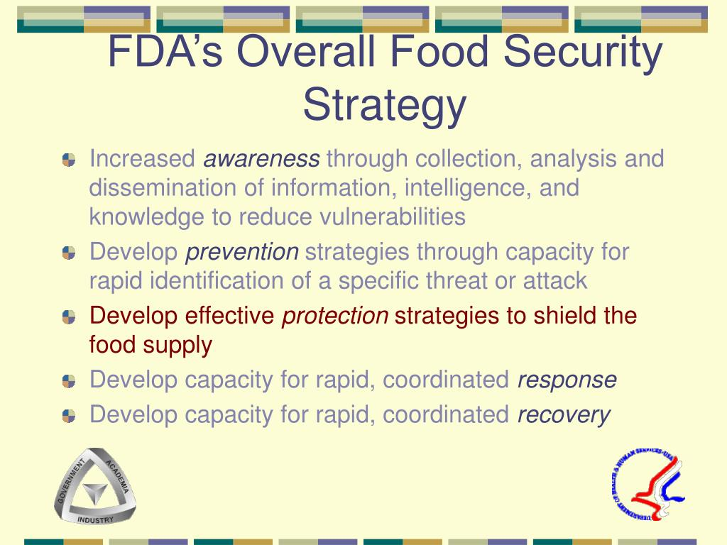 FDA's Overall Food Security Strategy