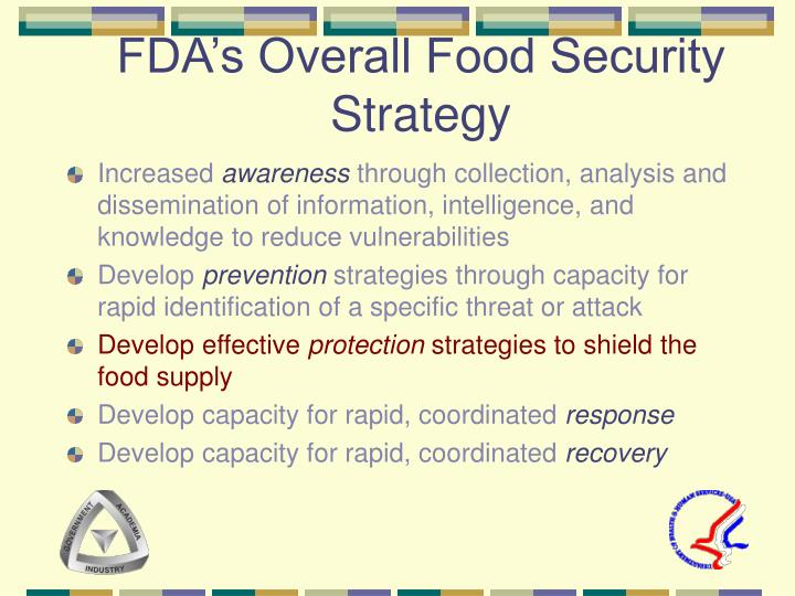 Fda s overall food security strategy