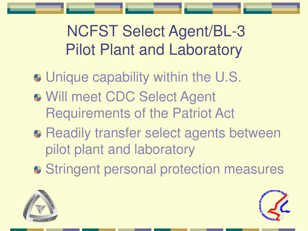 NCFST Select Agent/BL-3