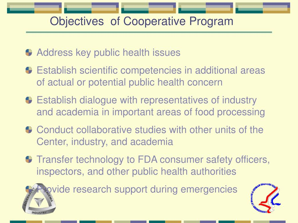Objectives  of Cooperative Program