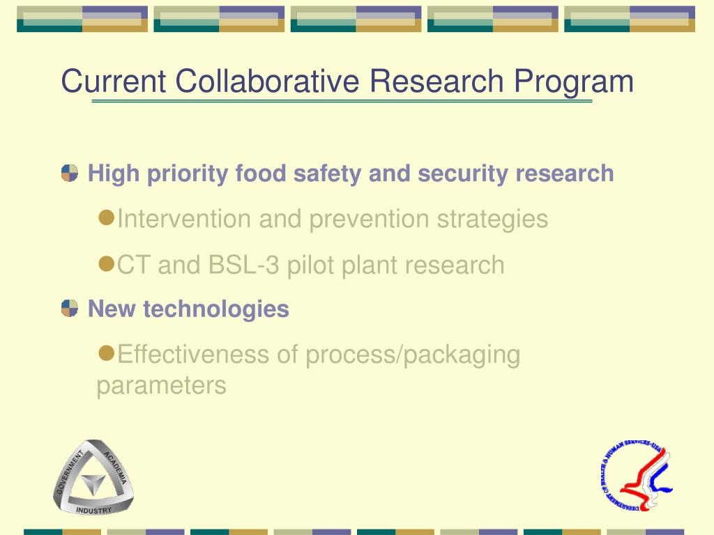Current Collaborative Research Program