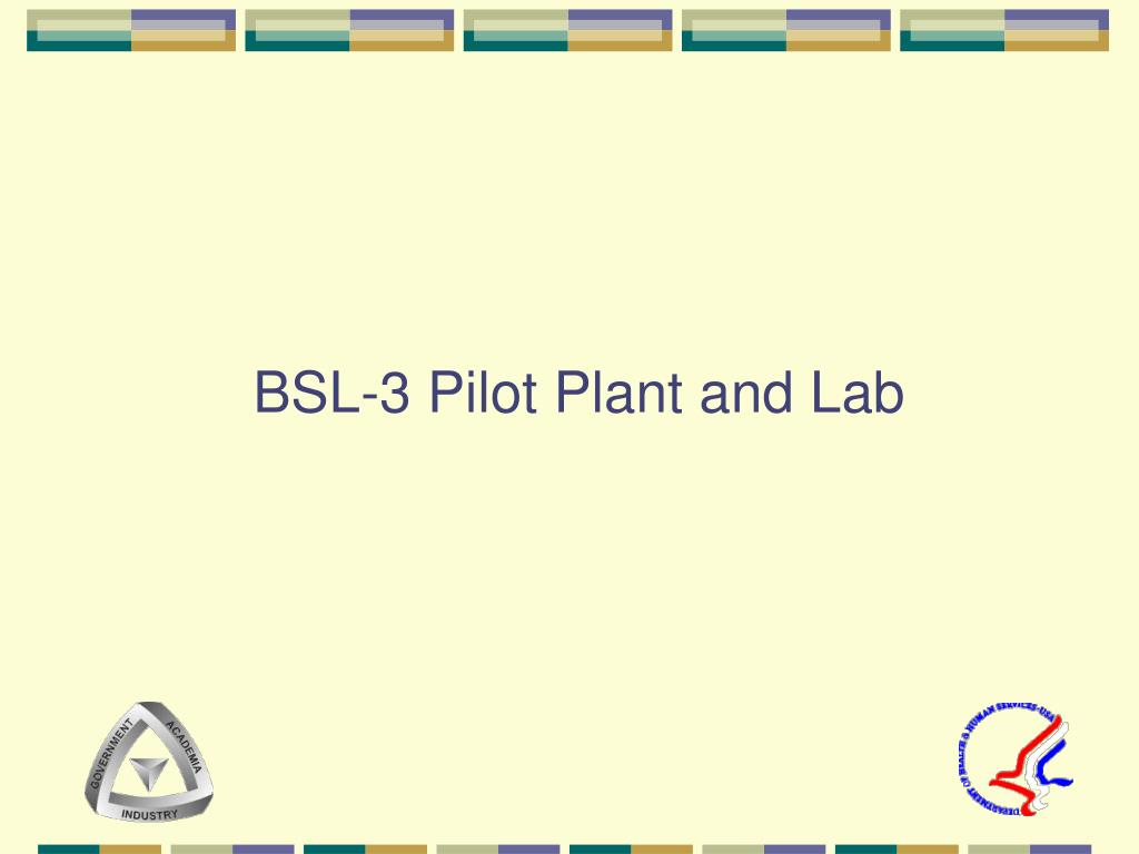 BSL-3 Pilot Plant and Lab