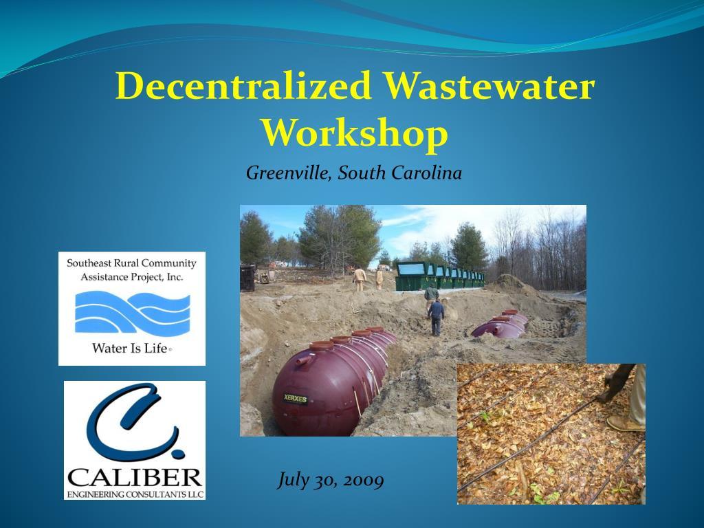 decentralized wastewater workshop greenville south carolina l.