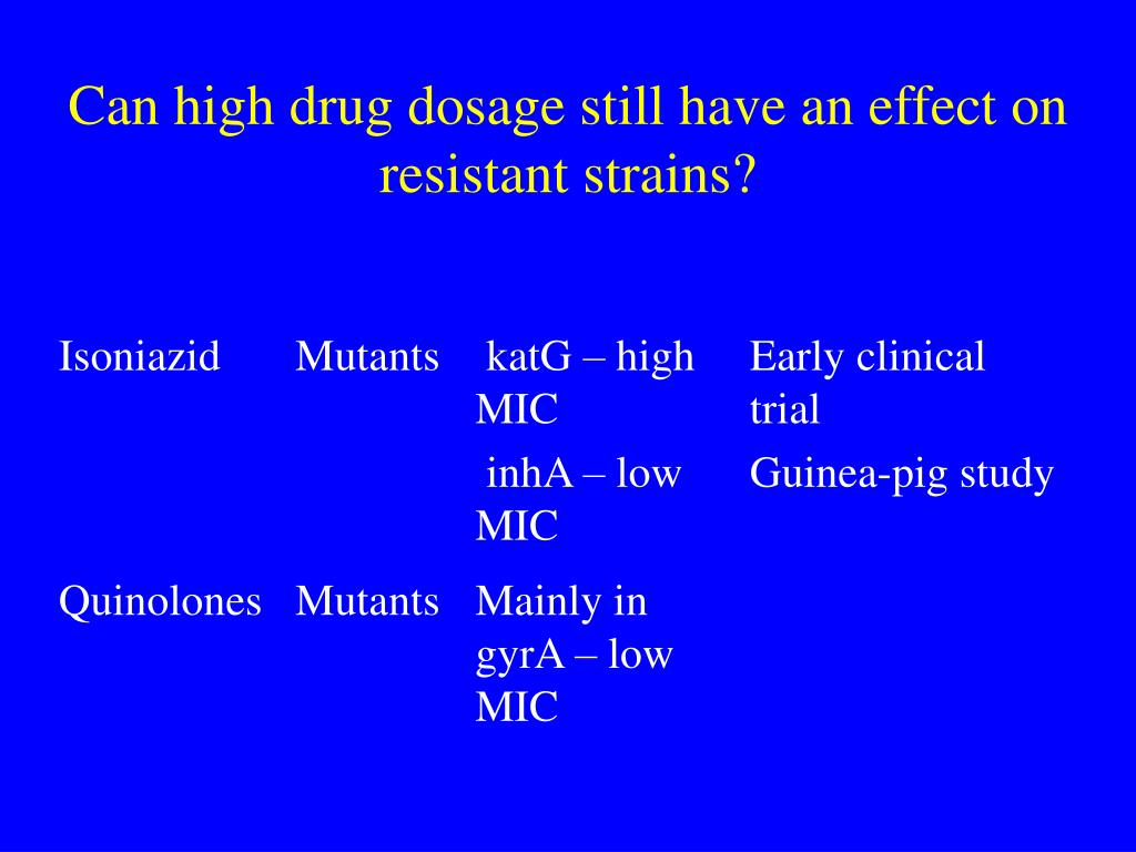 Can high drug dosage still have an effect on resistant strains?