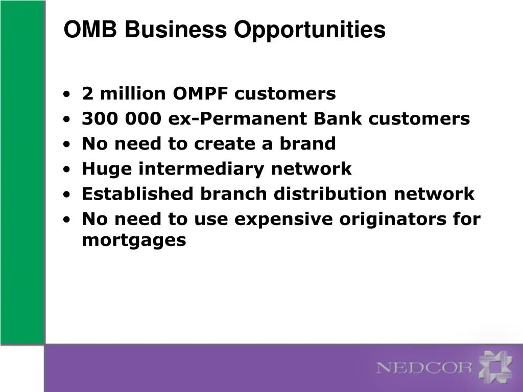 OMB Business Opportunities
