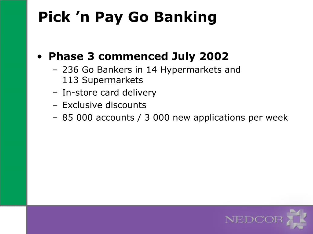Pick 'n Pay Go Banking